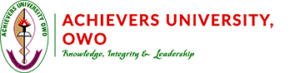 The Achievers University Pre-Degree admission form