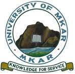 University of Mkar Courses Offered for Admission