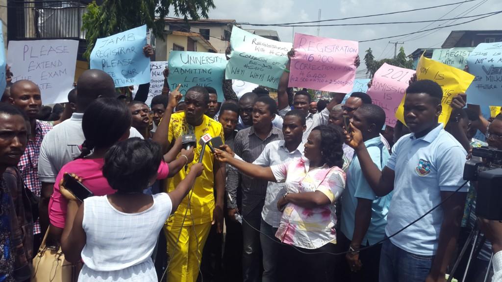 UTME Candidates Protest Exam Date