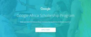 2018 Google Africa Scholarship Program for Aspiring Developers