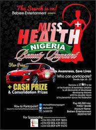 Miss Health Beauty Pageant Nigeria Registration Form