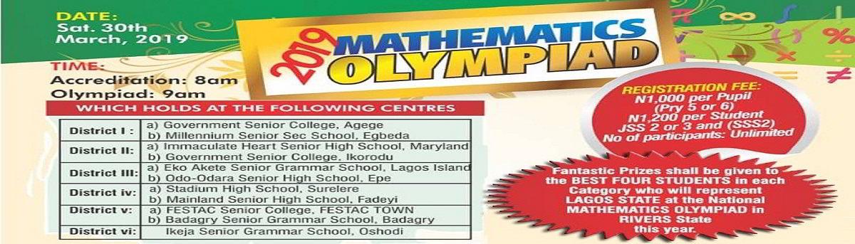 MAN Lagos Mathematics Olympiad Competition 2019 Registration